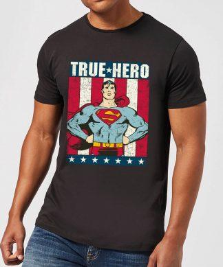 T-Shirt Homme Superman True Hero DC Originals - Noir - XS - Noir chez Casa Décoration