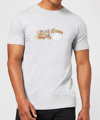 T-Shirt Homme La Famille Pierrafeu Voiture Familiale - Effet Abîmé - Gris - XS - Gris chez Casa Décoration
