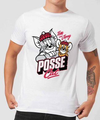 T-Shirt Homme Posse Cat Tom et Jerry - Blanc - XS chez Casa Décoration