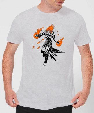 T-Shirt Homme Chandra Design - Magic : The Gathering - Gris - XS - Gris chez Casa Décoration