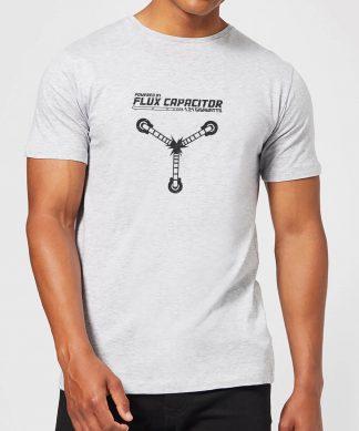 T-Shirt Homme Retour vers le Futur - Rechargé par le Convecteur Temporel - Gris - XS - Gris chez Casa Décoration