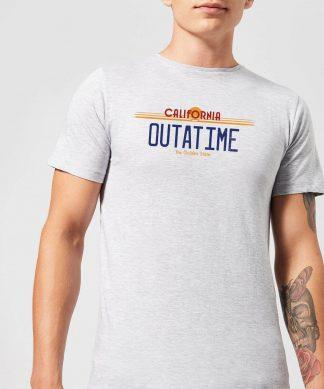 T-Shirt Homme Retour vers le Futur - Plaque Immatriculation Outatime - Gris - XS chez Casa Décoration