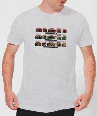 T-Shirt Homme Retour vers le Futur - Vers l'Horloge - Gris - XS - Gris chez Casa Décoration