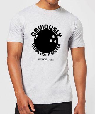 T-Shirt Homme The Big Lebowski Obviously Youre Not A Golfer - Gris - XS - Gris chez Casa Décoration