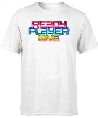 T-Shirt Homme Ready Player One Rainbow Logo - Blanc - XS - Blanc chez Casa Décoration