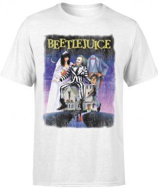 T-Shirt Homme Affiche Abîmée Beetlejuice - Blanc - XS chez Casa Décoration