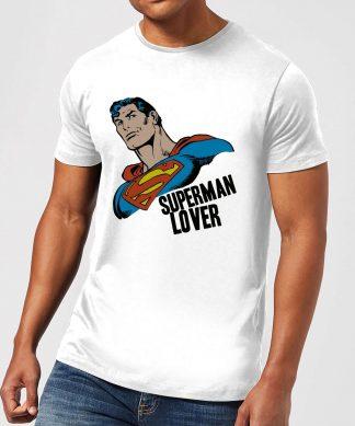 T-Shirt Homme Superman Lover (DC Comics) - Blanc - XS - Blanc chez Casa Décoration