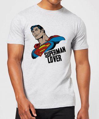 T-Shirt Homme Superman Lover (DC Comics) - Gris - XS - Gris chez Casa Décoration