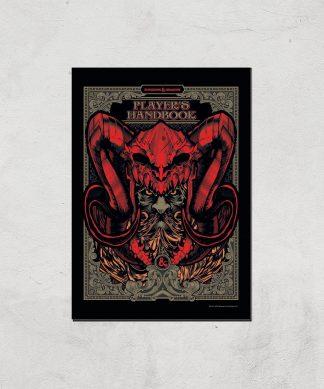 Donjons & Dragons Players Handbook Giclee Art Print - A4 - Print Only chez Casa Décoration