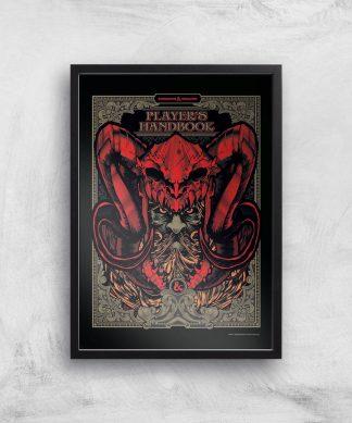 Donjons & Dragons Players Handbook Giclee Art Print - A4 - Black Frame chez Casa Décoration