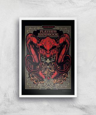 Donjons & Dragons Players Handbook Giclee Art Print - A2 - White Frame chez Casa Décoration