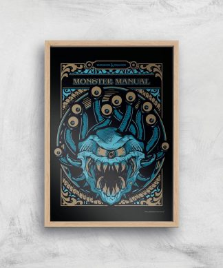 Donjons & Dragons Monster Manual Giclee Art Print - A3 - Wooden Frame chez Casa Décoration