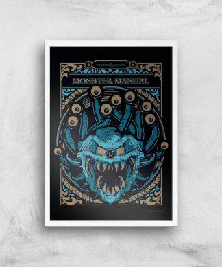 Donjons & Dragons Monster Manual Giclee Art Print - A3 - White Frame chez Casa Décoration