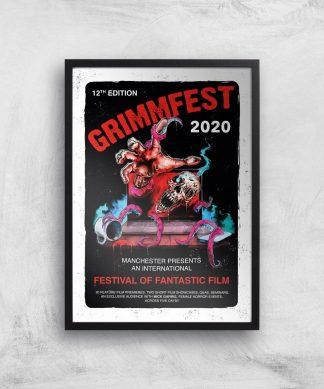 Grimmfest 2020 Tour Giclee Art Print - A4 - Black Frame chez Casa Décoration