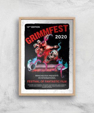Grimmfest 2020 Tour Giclee Art Print - A3 - Wooden Frame chez Casa Décoration