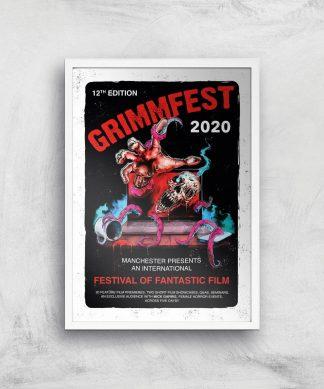 Grimmfest 2020 Tour Giclee Art Print - A2 - White Frame chez Casa Décoration