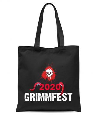 Grimmfest 2020 Red Skull Tote Bag - Black chez Casa Décoration