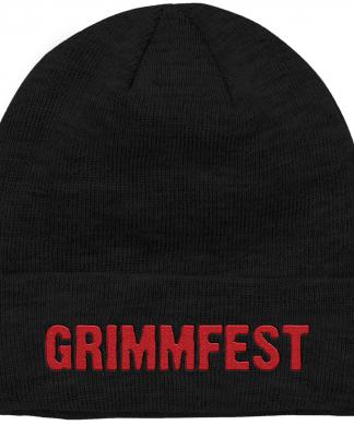 Grimmfest 2020 Font Logo Embroidered Beanie chez Casa Décoration