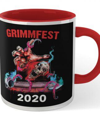 Grimmfest 2020 Tour Mug - White/Red chez Casa Décoration