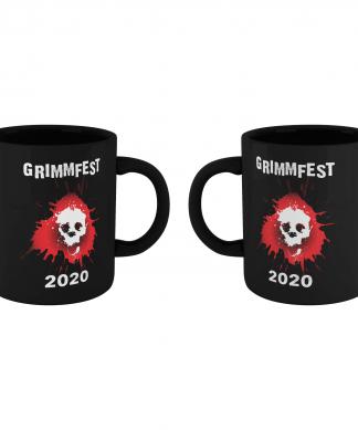 Grimmfest 2020 Skull Logo Mug - Black chez Casa Décoration
