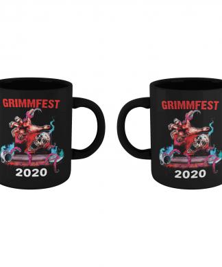 Grimmfest 2020 Skull Art Mug - Black chez Casa Décoration