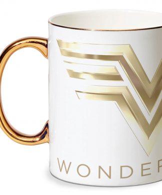 Wonder Woman Bone China Poignée Dorée Tasse chez Casa Décoration