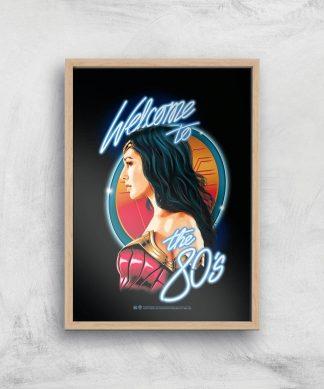 Wonder Woman Retro Giclee Art Print - A4 - Wooden Frame chez Casa Décoration