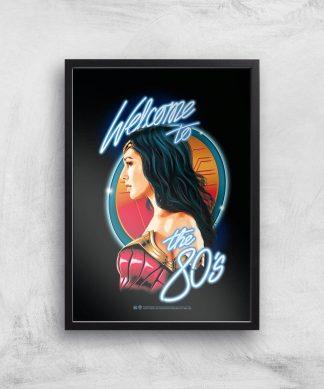 Wonder Woman Retro Giclee Art Print - A4 - Black Frame chez Casa Décoration