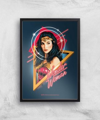 Wonder Woman Welcome To The 80s Giclee Art Print - A4 - Black Frame chez Casa Décoration