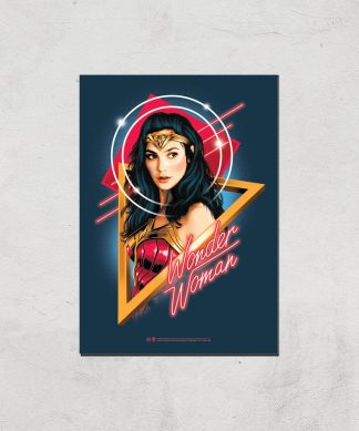 Wonder Woman Welcome To The 80s Giclee Art Print - A2 - Print Only chez Casa Décoration