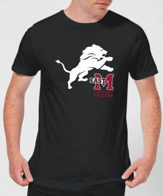T-Shirt Homme Lion et Logo - East Mississippi Community College - Noir - XS - Noir chez Casa Décoration