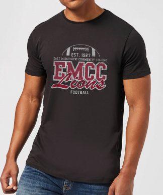 T-Shirt Homme Lion et Effet Abîmé - East Mississippi Community College - Noir - XS - Noir chez Casa Décoration