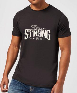 Stay Strong Logo Men's T-Shirt - Black - XS - Noir chez Casa Décoration