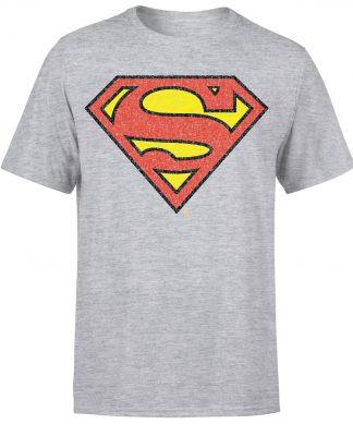 Originals Official Superman Crackle Logo Men's T-Shirt - Grey - XS - Gris chez Casa Décoration