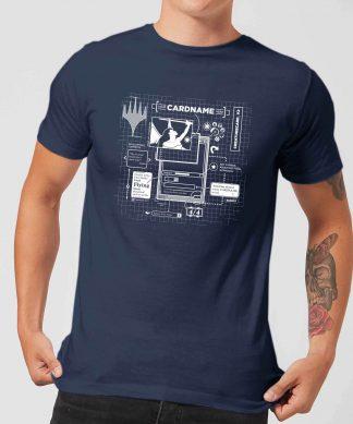 T-Shirt Homme Card Grid - Magic : The Gathering - Bleu Marine - XS - Navy chez Casa Décoration