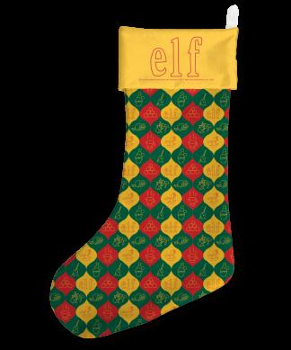 Elf Baubles Pattern Christmas Stocking chez Casa Décoration