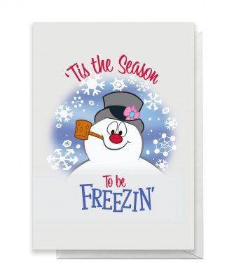 Tis The Season To Be Freezin' Greetings Card - Giant Card chez Casa Décoration