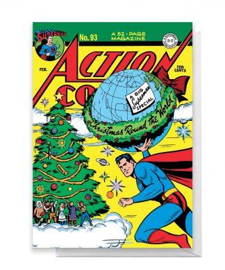 Superman Christmas Tree Greetings Card - Large Card chez Casa Décoration