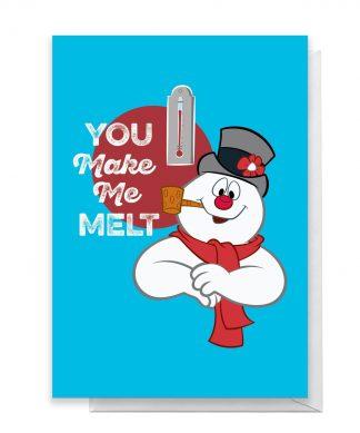 You Make Me Melt Greetings Card - Standard Card chez Casa Décoration
