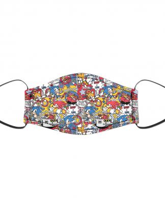 Sonic The Hedgehog Sonic Party Face Mask - S chez Casa Décoration