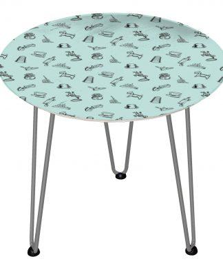 Table en bois Decorsome - Figurines Monopoly - Silver chez Casa Décoration