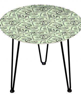 Table en bois Decorsome - Billets Monopoly - Noir chez Casa Décoration
