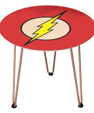 Table en bois Decorsome - Logo The Flash DC - Rose gold chez Casa Décoration