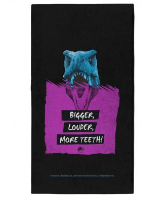 Jurassic Park Bigger Louder More Teeth - Fitness Towel chez Casa Décoration