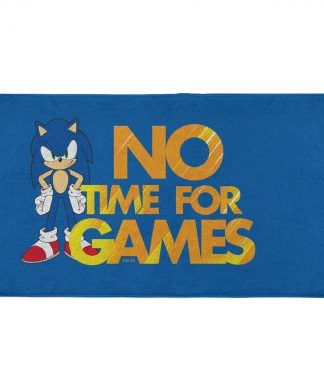 Sonic The Hedgehog No Time For Games - Fitness Towel chez Casa Décoration