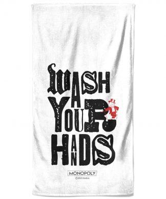 Monopoly Wash Your Hands Bath Towel chez Casa Décoration