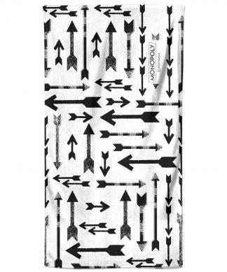 Monopoly Arrows Pattern Bath Towel chez Casa Décoration