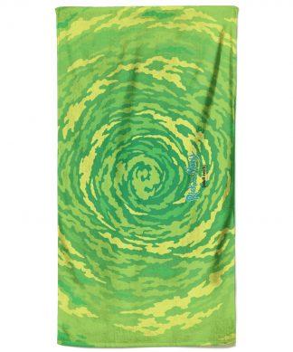 Rick and Morty Portal All Over Pattern Bath Towel chez Casa Décoration