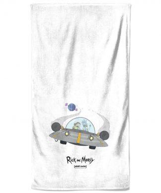 Rick and Morty Spaceship Bath Towel chez Casa Décoration