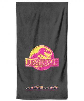 Jurassic Park Neon Logo Bath Towel chez Casa Décoration